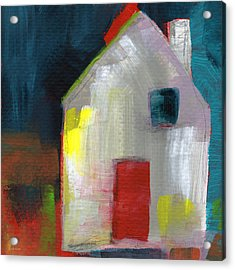 Red Door- Art By Linda Woods Acrylic Print by Linda Woods