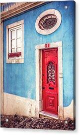 Red Door In Lisbon  Acrylic Print