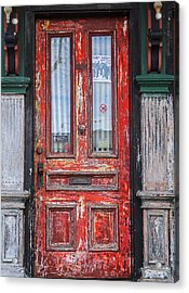 Red Door In Portsmouth Nh Acrylic Print