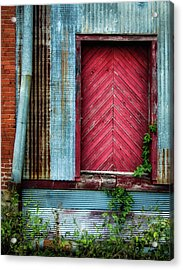 Acrylic Print featuring the photograph Red Door by James Barber