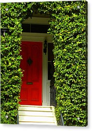 Red Door Acrylic Print by Kim Zwick