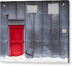 Red Door To Summer Acrylic Print by Todd Klassy