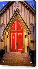 Acrylic Print featuring the photograph Red Doors by Allin Sorenson
