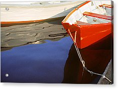 Red Dory Photo Acrylic Print by Peter J Sucy