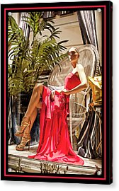 Acrylic Print featuring the photograph Red Dress - Chuck Staley by Chuck Staley