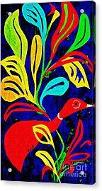 Red Duck Acrylic Print