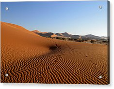 Acrylic Print featuring the photograph Red Dunes Of Namibia by Riana Van Staden