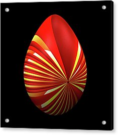 Red Easter Egg Acrylic Print