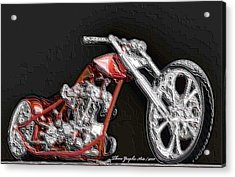 Red Embossed Custom Acrylic Print by Wayne Bonney