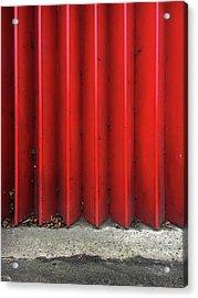 Red Expanding Metal Acrylic Print