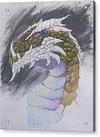 Red Eye Dragon Acrylic Print