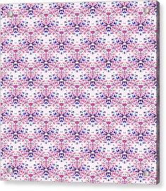 Red Fabric Pattern Acrylic Print