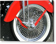 Red Fender Acrylic Print