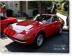 Red Ferrari Daytona . 40d9356 Acrylic Print by Wingsdomain Art and Photography