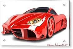 Red Ferrari Acrylic Print