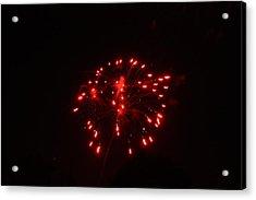 Red Fireworks Acrylic Print by JoAnn Tavani