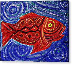 Red Fish Acrylic Print by Sarah Loft