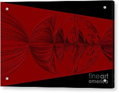 Red And Black Design. Art Acrylic Print