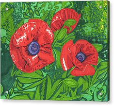 Red Flower Acrylic Print by Will Stevenson