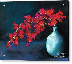 Acrylic Print featuring the painting Red Flowers by Frances Marino