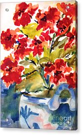Red Flowers Acrylic Print by Sandi Stonebraker