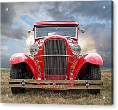 Red Ford Coupe Head On Acrylic Print