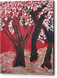 Red Forest Acrylic Print