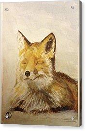 Red Fox Rest Acrylic Print
