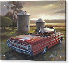 Red Galaxie Acrylic Print by Todd Baxter