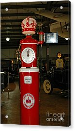 Red Gas Pump Acrylic Print by Kathleen Struckle