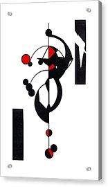Red Geo Design Acrylic Print