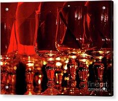 Red Glassart Acrylic Print