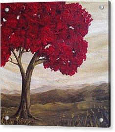 Red Glory Acrylic Print
