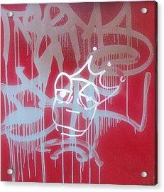Red Graffiti Acrylic Print