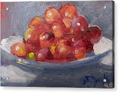 Red Grapes Acrylic Print by Susan Jenkins