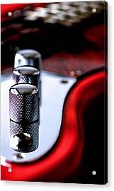 Red Guitar Acrylic Print by Bob Daalder