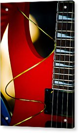 Red Guitar Acrylic Print by Hakon Soreide