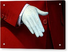 Red Handed Acrylic Print by Jez C Self