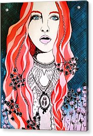Red Head Acrylic Print by Amy Sorrell