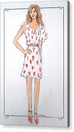 Red Heart Dress Acrylic Print