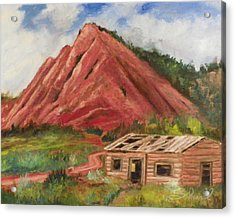 Red Hill And Cabin Acrylic Print