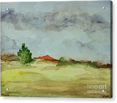 Red Hill Landscape Acrylic Print by Vonda Lawson-Rosa