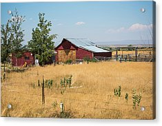 Red Home On The Range Acrylic Print