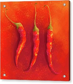 Hot Chili Peppers Acrylic Print
