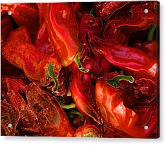 Red Hot Chili Peppers Acrylic Print by Stuart Turnbull