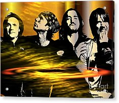 Red Hot Chili Peppers Acrylic Print by Daniel Janda