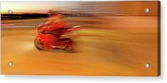 Red Hot Acrylic Print by Glennis Siverson