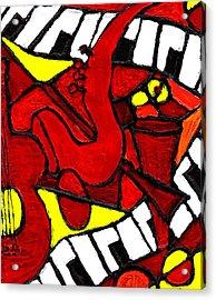Red Hot Jazz Acrylic Print