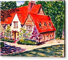 Red House In Clayton Acrylic Print by Horacio Prada