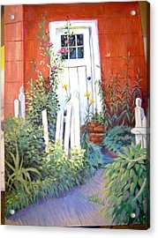 Red House Acrylic Print by Judy Keefer